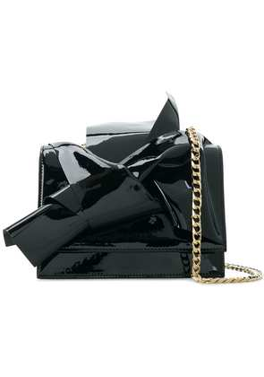 No21 abstract bow shoulder bag - Black