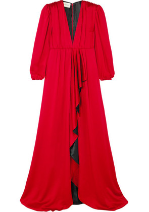Gucci - Ruffled Hammered-satin Gown - IT40