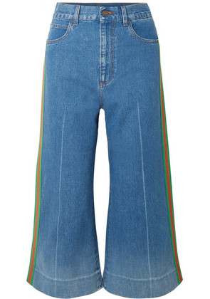 Gucci - Cropped High-rise Wide-leg Jeans - Blue