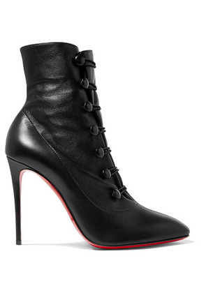 Christian Louboutin - French Tutu 100 Leather Ankle Boots - Black