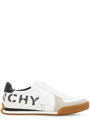 LOGO LEATHER TENNIS SNEAKERS