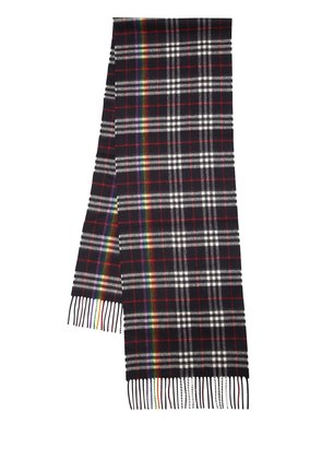 RAINBOW CHECK CASHMERE SCARF