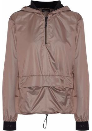 Koral Woman Ground Anorak Mesh-paneled Shell Hooded Jacket Taupe Size S