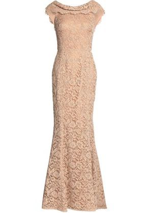 Dolce & Gabbana Woman Cotton-blend Corded Lace Gown Neutral Size 38
