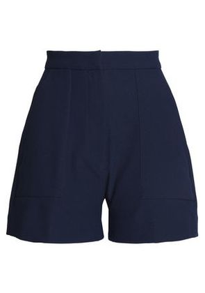 Perseverance Woman Pleated Crepe Shorts Midnight Blue Size 8