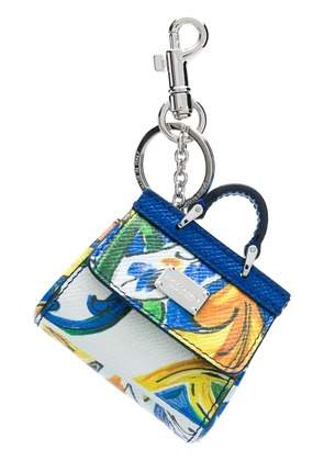 Dolce & Gabbana Mini Sicily bag keychain - Blue