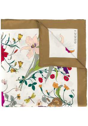 Gucci floral scarf - Nude & Neutrals