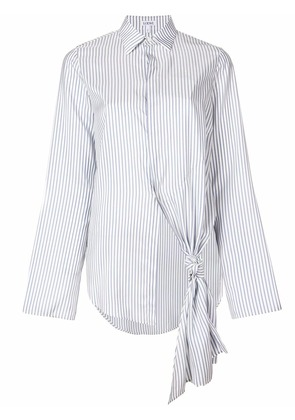 Loewe single knot-detail shirt - White
