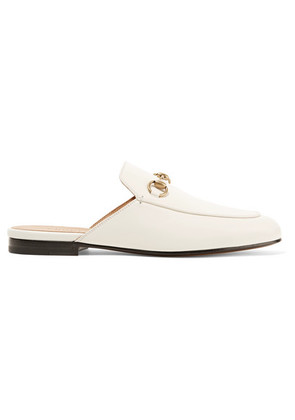 Gucci - Princetown Horsebit-detailed Leather Slippers - White