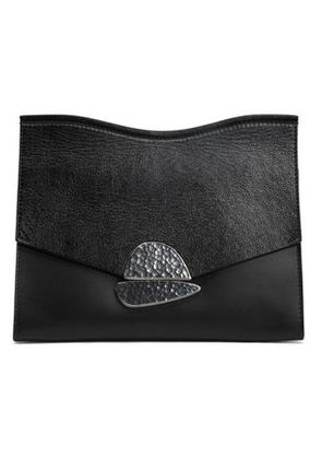 Proenza Schouler Woman Textured-leather Clutch Black Size -