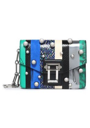 Proenza Schouler Woman Faux Pearl-studded Paneled Leather Shoulder Bag Multicolor Size -