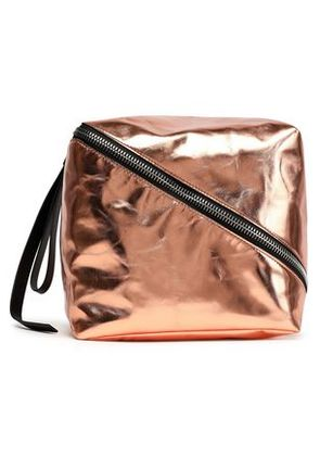 Proenza Schouler Woman Metallic Leather Pouch Copper Size -
