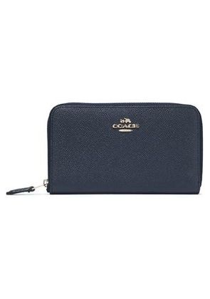 Coach Woman Leather Wallet Navy Size -