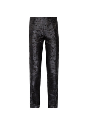 Slim-fit Silk-jacquard Trousers