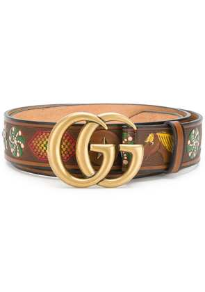 Gucci Double G buckle belt - Brown