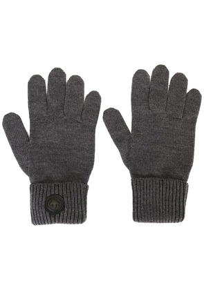 Dsquared2 classic ribbed gloves - Grey