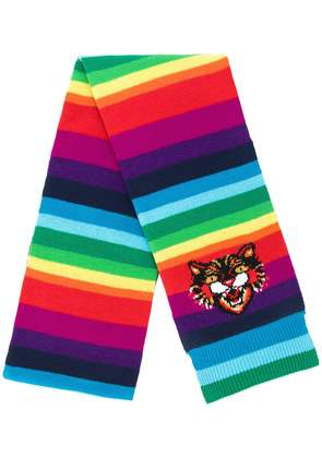 Gucci Angry Cat rainbow scarf - Multicolour