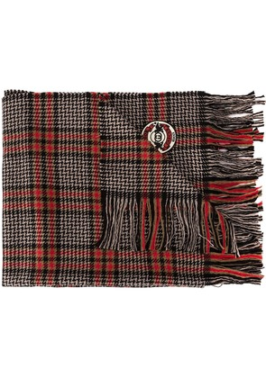 Gucci check pattern scarf - Red