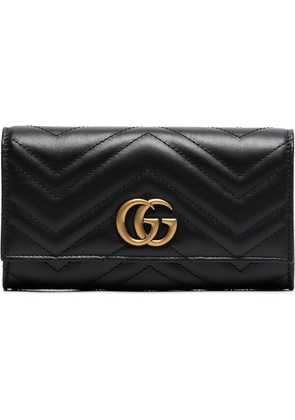Gucci black GG marmont continental leather wallet
