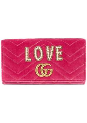 Gucci GG Marmont wallet - Pink & Purple