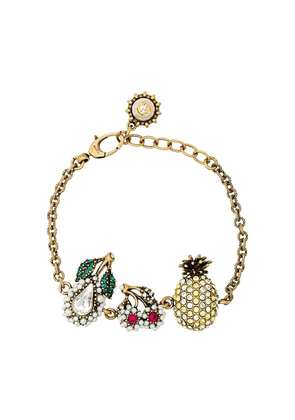 Gucci Crystal Fruit Charm Bracelet - Metallic