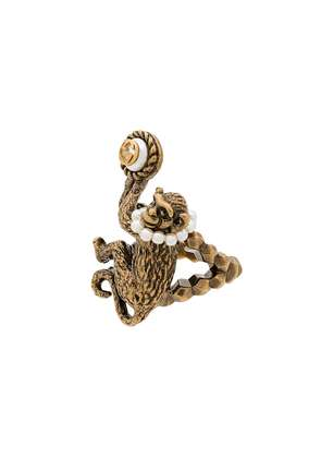 Gucci Monkey Ring - Metallic