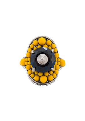 Gucci multi-beaded ring - Yellow & Orange