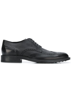 Tod's classic derby brogues - Black