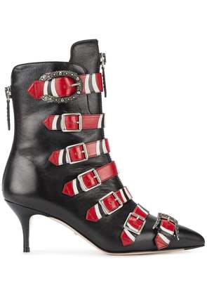 Gucci buckle ankle boots - Black