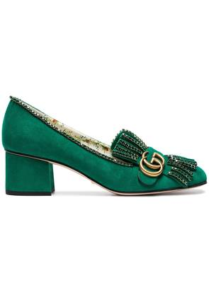 Gucci Green Marmont 55 suede pumps