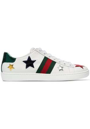 Gucci ace low top leather sneakers - White