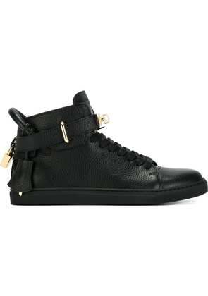 Buscemi clasp detail lace-up sneakers - Black