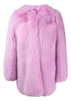 Gucci snake embroidery coat - Pink & Purple