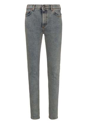 Gucci high waisted logo print skinny jeans - Blue