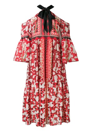 Temperley London halter neck dress - Red