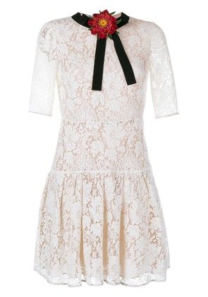 Gucci lace mini dress - White