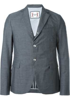 Moncler arm patch blazer - Grey