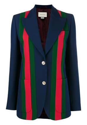 Gucci Striped Blazer With Front Buttons - Blue