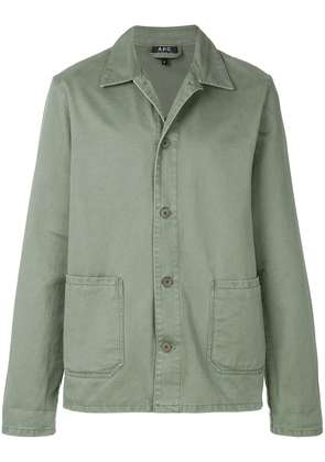 A.P.C. classic fitted jacket - Green