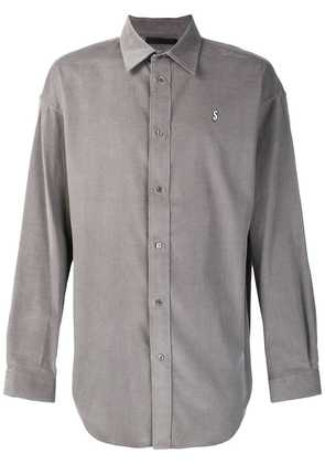 Alexander Wang dollar sign embroidered shirt - Grey