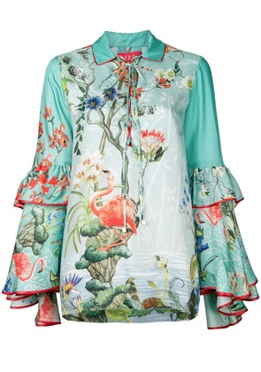 F.R.S For Restless Sleepers floral gypsy polo top - Green