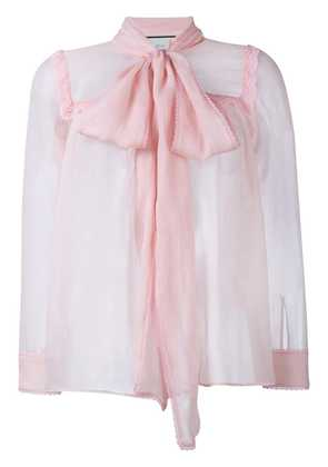 Gucci Silk Sheer Blouse - Pink & Purple