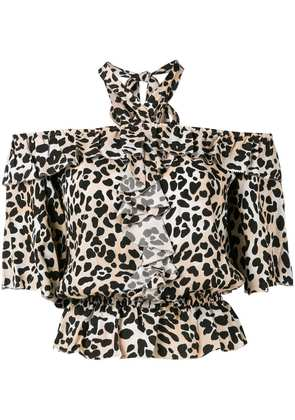 Temperley London leopard print blouse - Brown