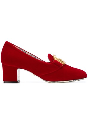 Gucci heeled loafers - Red