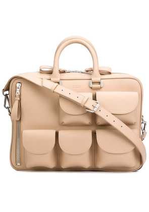 Valas multi-pockets briefcase - Nude & Neutrals
