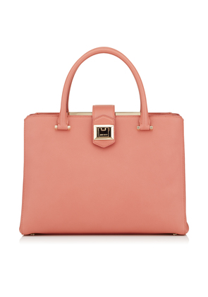 MARIANNE Rosewood Grainy Calf Leather Tote Bag