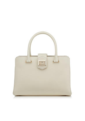 MARIANNE/S Linen Grainy Calf Leather Tote Bag