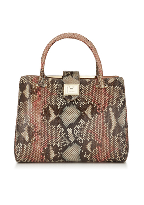 MARIANNE Rosewood Mix Painted Desert Python Tote Bag