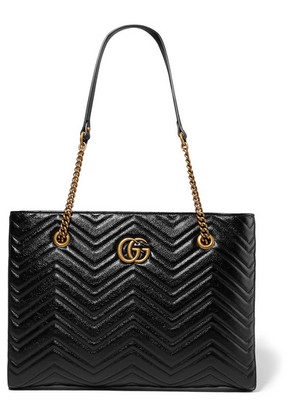 Gucci - Gg Marmont Medium Quilted Leather Tote - Black