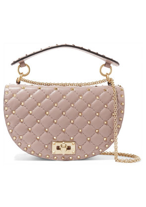 Valentino - Valentino Garavani The Rockstud Spike Leather Shoulder Bag - Pink